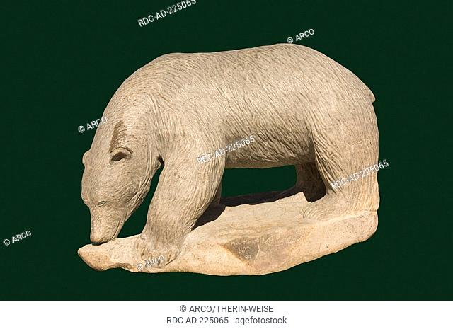 Inuit stone sculpture, Iqaluit, Frobisher Bay, Baffin Island, Nunavut, Canada, cut out, object