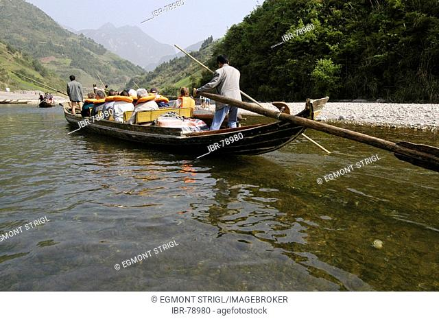 Tourist boats on the Shennong river, Jangtze river, China