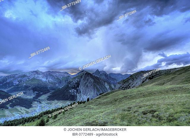 Approaching thunderstorm, Livigno, Livigno Alps, Lombardy, Italy