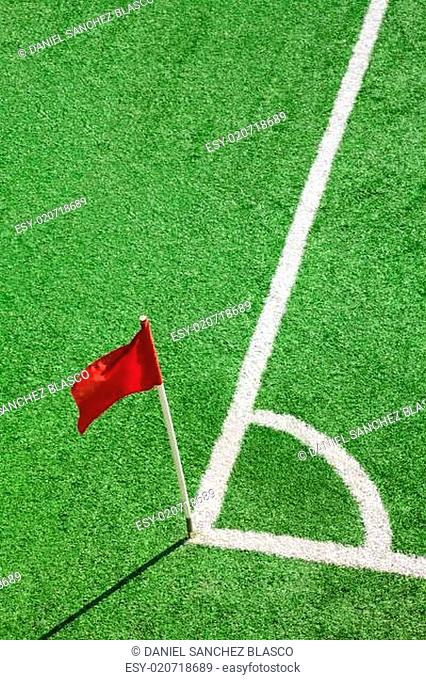 Football.Corner flag