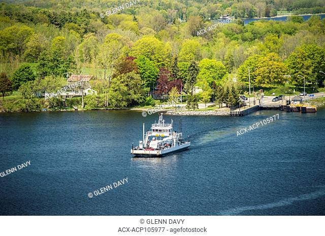 M.V. Glenora car ferry leaving Adolphustown for Glenora, Glenora, Ontario, Canada