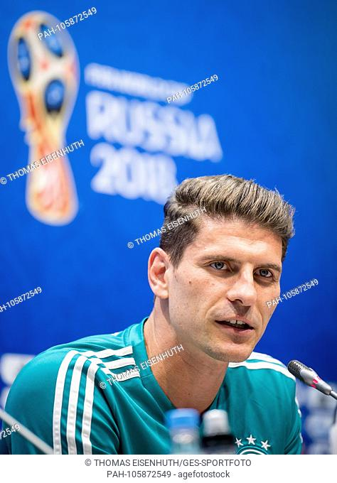 Mario Gomez (Germany) answers questions from journalists GES / Football / World Cup 2018 Russia: FIFA Press Conference, Sochi, 22.06