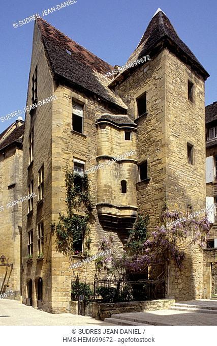 France, Dordogne, Black Perigord, Sarlat la Caneda, Hotel de Vassal