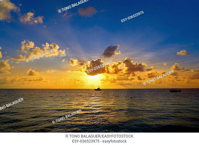 Riviera Maya sunrise beach in Mayan Mexico