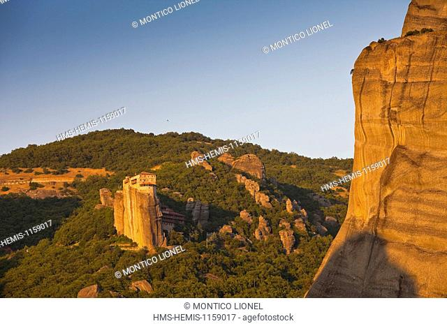 Greece, Thessaly, Meteora monasteries complex, listed as World Heritage by UNESCO, monastery Roussanou