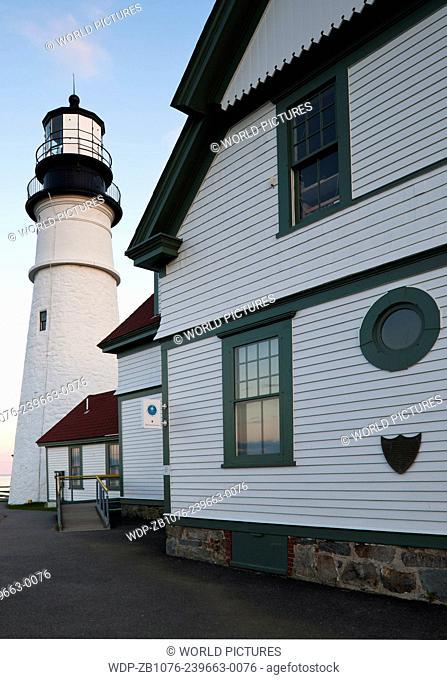 Portland Head Lighthouse, late afternoon; Portland, Maine