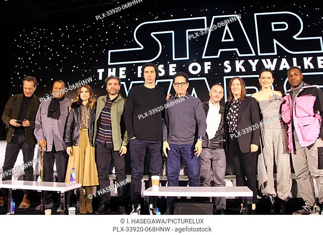 Richard E. Grant, Oscar Isaac, Billy Dee Williams, Keri Russell, Adam Driver, J.J. Abrams, Chris Terrio, Kathleen Kennedy, Daisy Ridley
