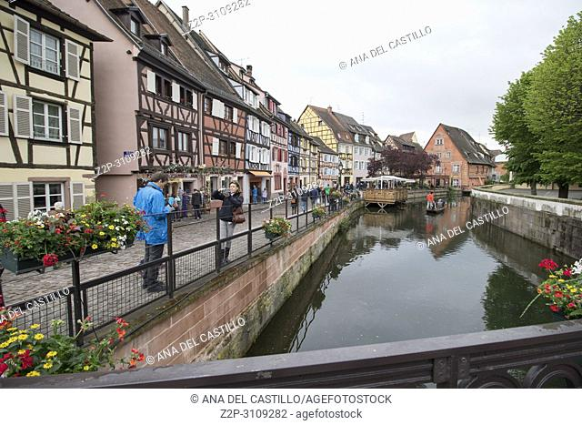 Colmar, Petit Venice, traditional colorful houses in Alsace. France