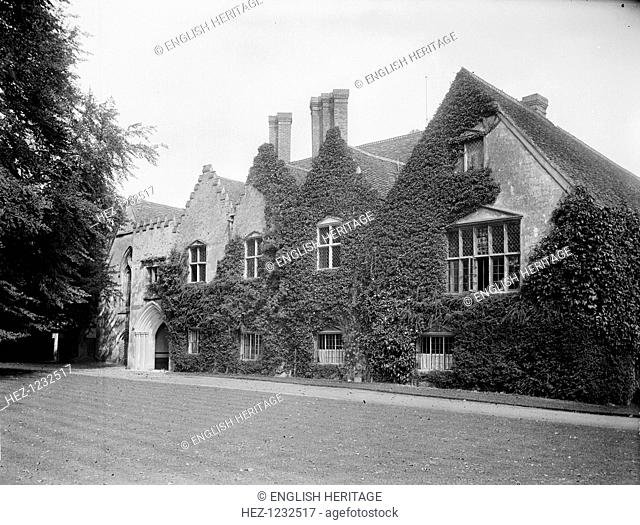 Bisham Abbey, Bisham, Berkshire, 1885. Exterior of the main entrance front as re-built in the 16th century. It was originally a preceptory of the Knights...