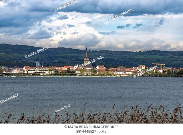 View of Radolfszell, Lake Constance, Baden-Württemberg, Germany