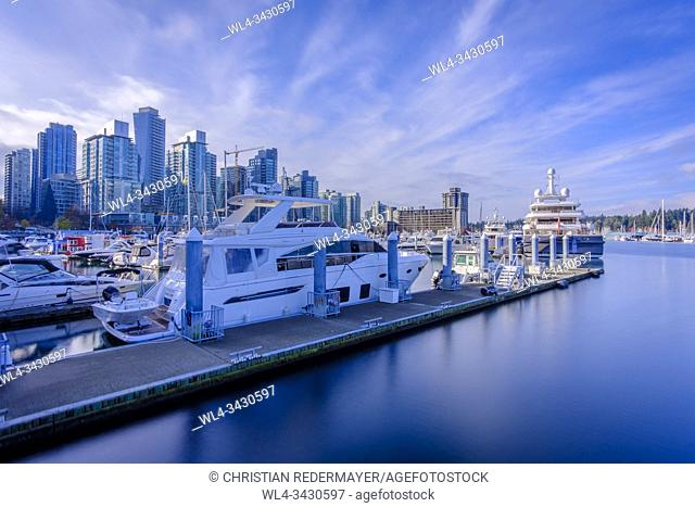 Coal Harbour in Vancouver, British Columbia during a wonderful sunny afternoon in November
