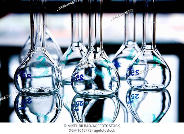 flask in laboratory