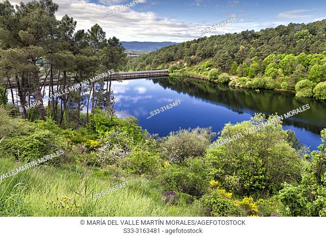 Reflections at Pajarero reservoir. Sierra de Grados. Avila. Spain