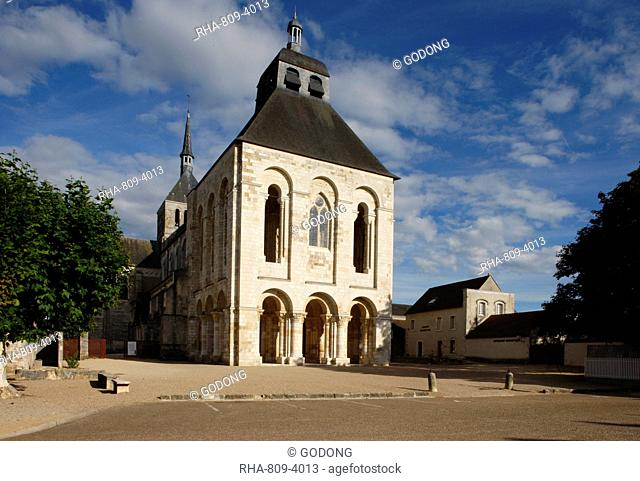 Fleury Benedictine Abbey, Saint-Benoit-sur-Loire, Loiret, France, Europe