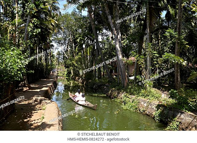 India, Kerala state, Allepey, the backwater