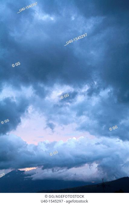 Dramatic sky, rain clouds