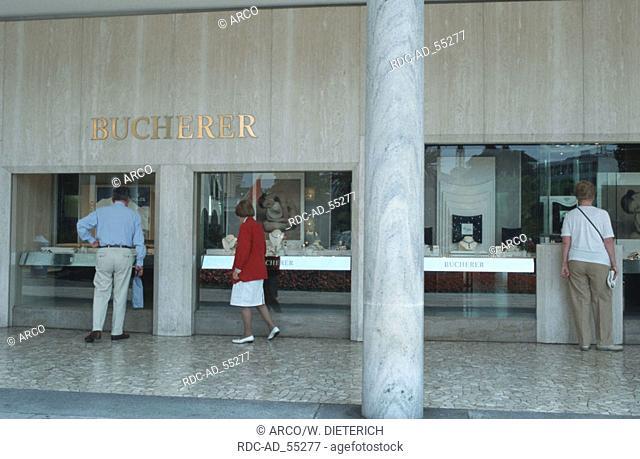 Jeweller's shop 'Bucherer' Locarno Lago Maggiore Ticino Switzerland