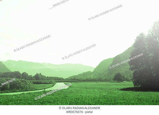 Beautiful country landscape view Great nature scene