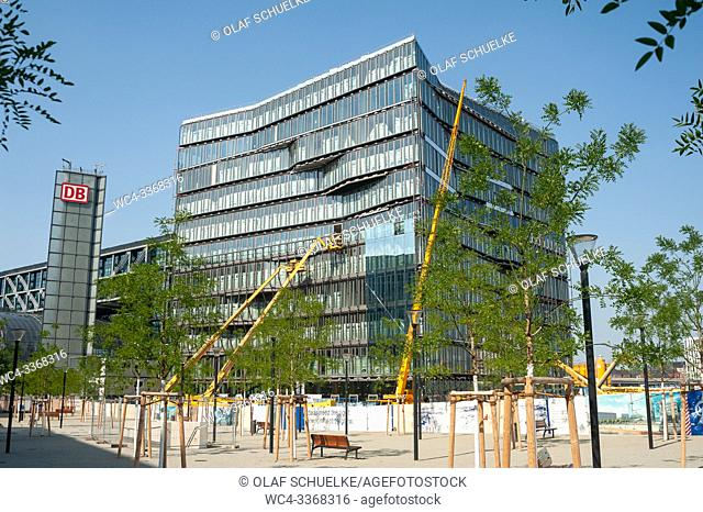 Berlin, Germany, Europe - Construction site of Cube Berlin office building at Washingtonplatz in Mitte, next to the central train station