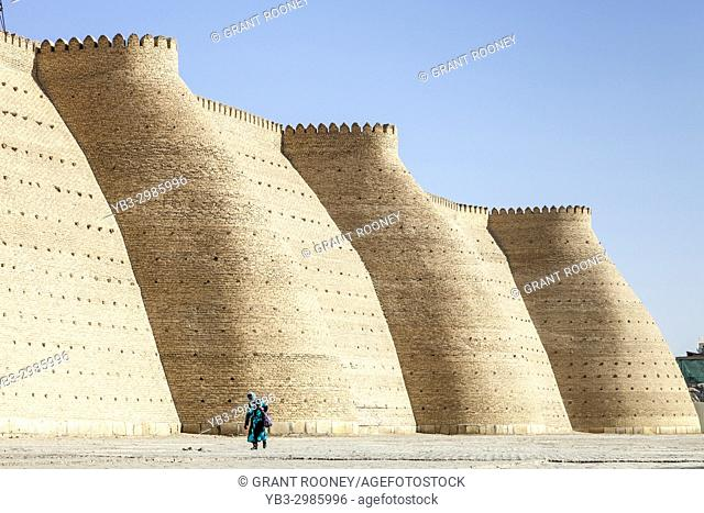 The Ark Fortress Walls, Bukhara, Uzbekistan
