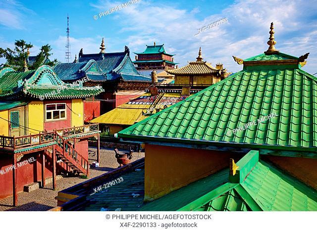 Mongolia, Ulan Bator, Gandan monastery (Gandantegchinlen Khiid)