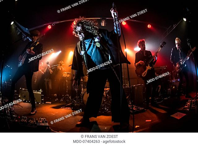Dutch band Di-rect performs live on stage at Serraglio in Milan. Milan (Italy), December 1st, 2019