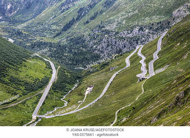 Furka Pass, Gletsch, Valais, Switzerland, Europe
