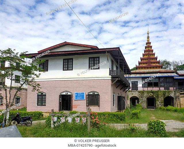 Nyaung Shwe, Cultural Museum, former palace, Inle Lake, Shan State, Myanmar (Burma)