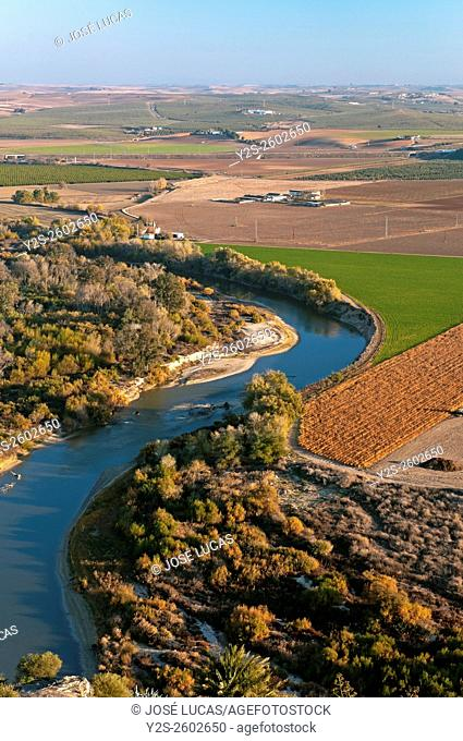 Valley of the river Guadalquivir, Almodovar del Rio, Cordoba province, Region of Andalusia, Spain, Europe