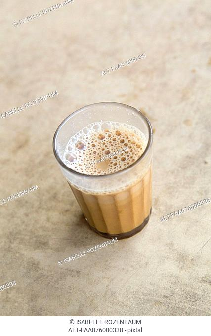 Glass of chai tea