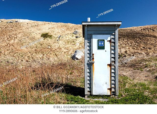 Outhouse at Green Point, Gros Morne National Park, Newfoundland, Canada