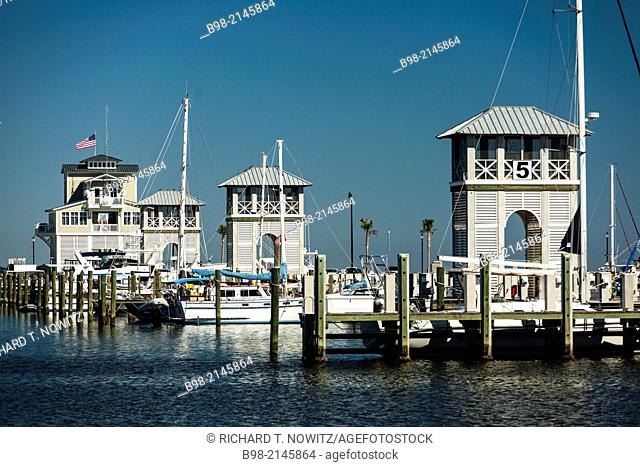 Gulfport Marina rebuilt in 2013 after Huuricane Katrina