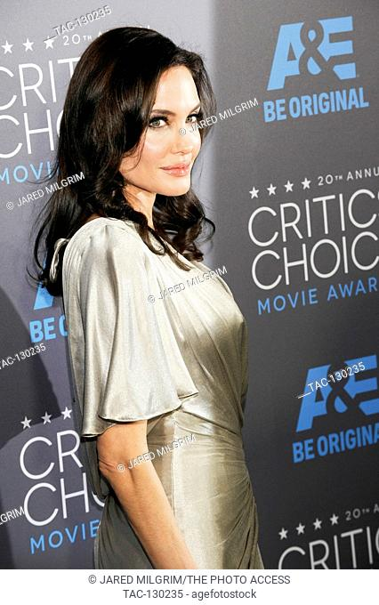 Actress Angelina Jolie attends the 20th Critics' Choice Movie Awards at the Hollywood Palladium on January 15, 2015 in Hollywood, California
