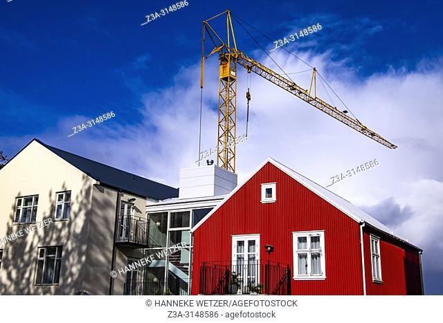 Construction site in Reykjavik, Iceland