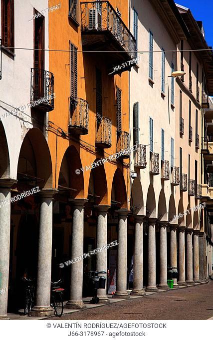 Piazza de lla Repubblica. Novara. Italy