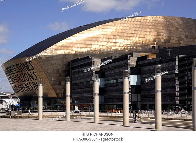Millennium Centre for the Arts, Cardiff Bay, Cardiff, Wales, United Kingdom, Europe