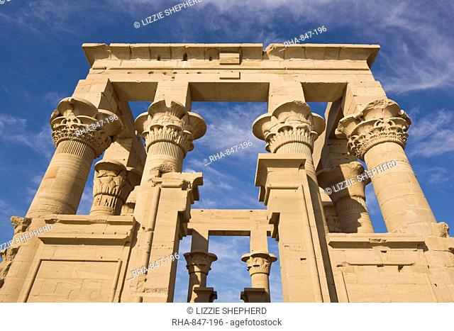 The Kiosk of Trajan at the Philae Temples, UNESCO World Heritage Site, Nubia, Egypt, North Africa, Africa