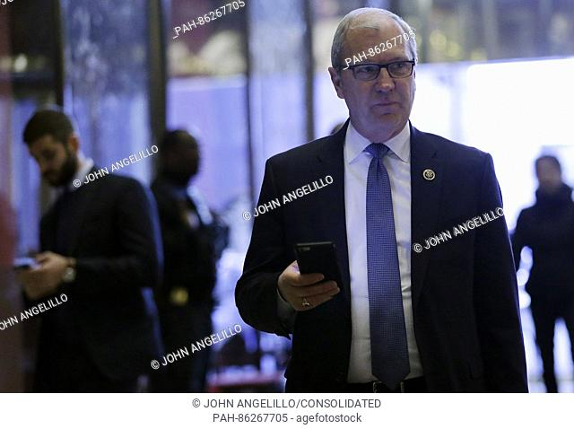 United States Representative Kevin Cramer (Republican of North Dakota) stands in the lobby of Trump Tower on December 5, 2016 in New York City. U.S