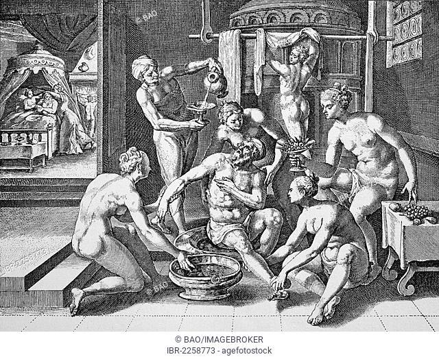 The makeover, copper engraving by Crispin de Passe, circa 1600
