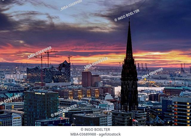 Germany, Hamburg, Neustadt, view, city overview