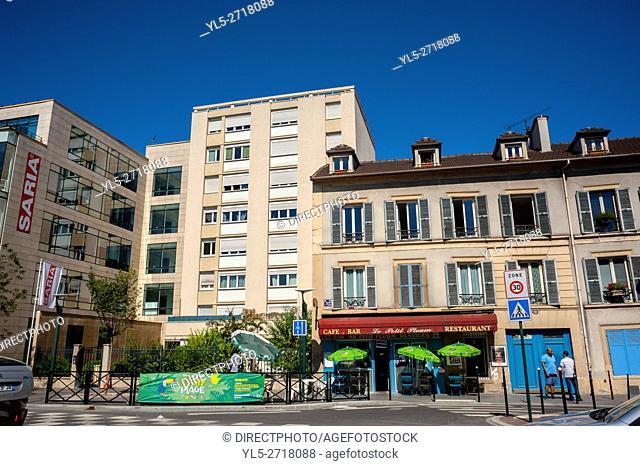 Clichy, France, Street Scene, Modern Architecture, Buildings, Porte de Clichy. Paris Suburb