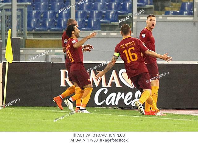 2016 Serie A Football Roma v Inter Oct 2nd. 02.10.2016. Stadium Olimpico, Rome, Italy. Serie A football league. AS Roma versus Inter