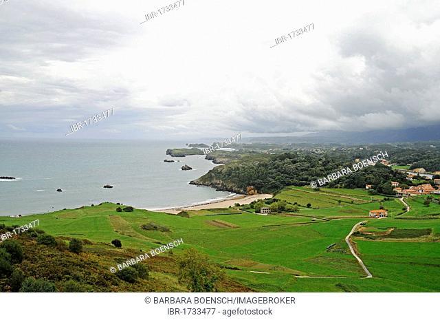 Clouds on the coast, Costa Verde, Llanes, Asturias, Spain, Europe