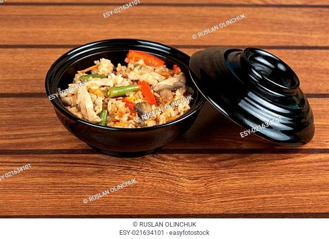 Rice chicken vegetable