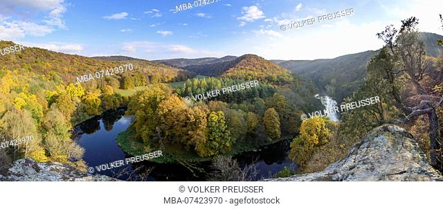Hardegg, Thayatal National Park, Thaya river valley bend at Umlaufberg, Waldviertel (Forest Quarter), Lower Austria, Austria