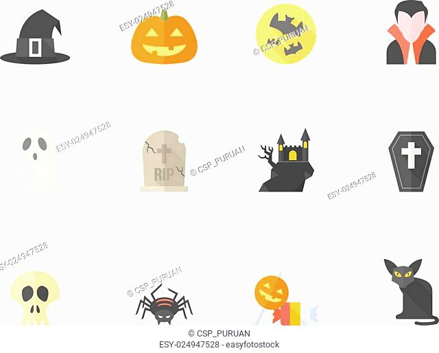 Flat Color Icons - Halloween