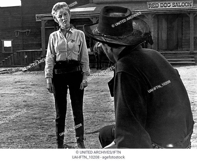 Gunslinger, aka: Sonntag sollst Du sterben, USA 1956, Regie: Roger Corman, Darsteller: Beverly Garland, John Ireland