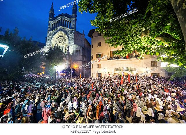 Es Firo, Moors and Christians celebration of victory over the Barbary corsairs of May 11, 1561, Soller, Mallorca, Balearic Islands, Spain
