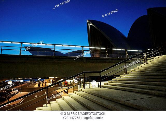 Sydney Opera House steps and car entrance, Australia