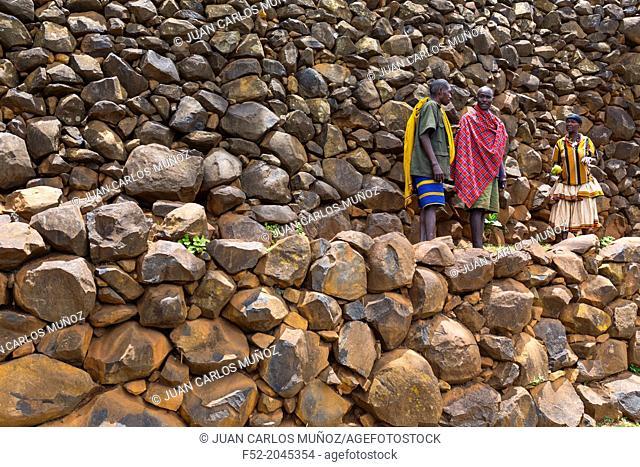 Konso people, Konso village, Naciones, Ethiopia, Africa